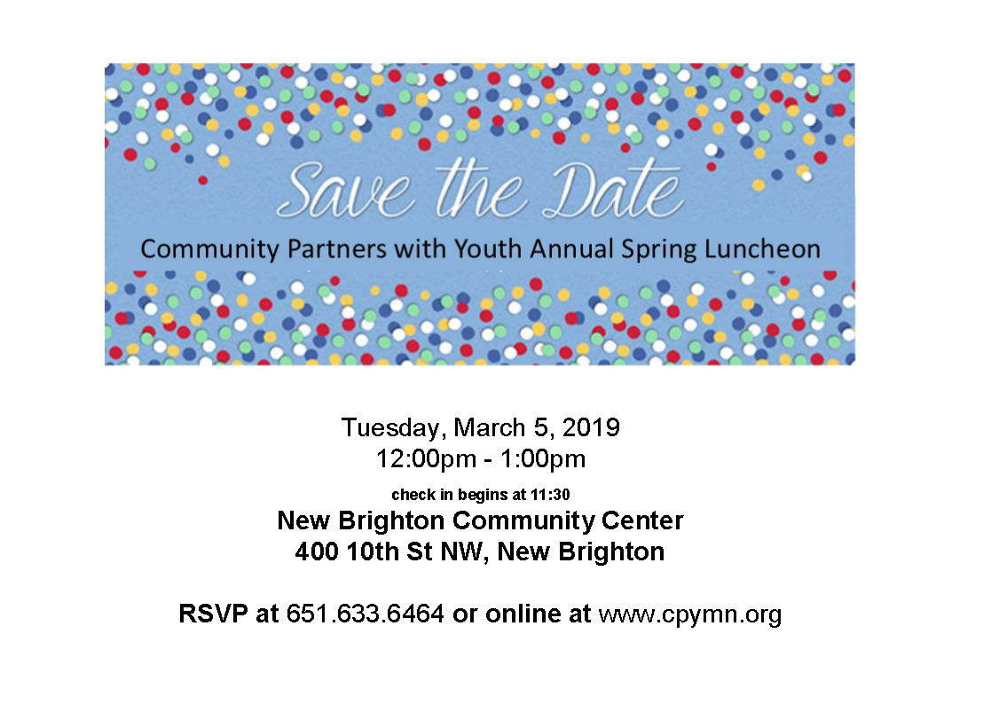 Save the Date CPY Luncheon